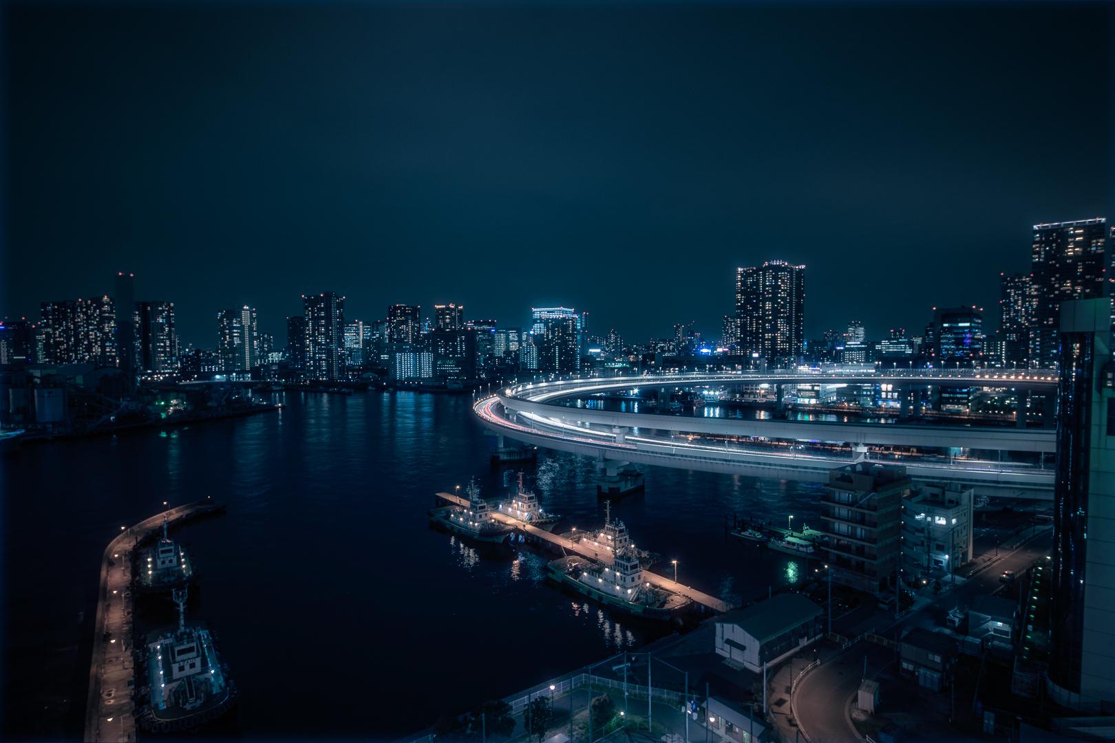 2016-3991 Tokyo - Nightview from Rainbow Bridge